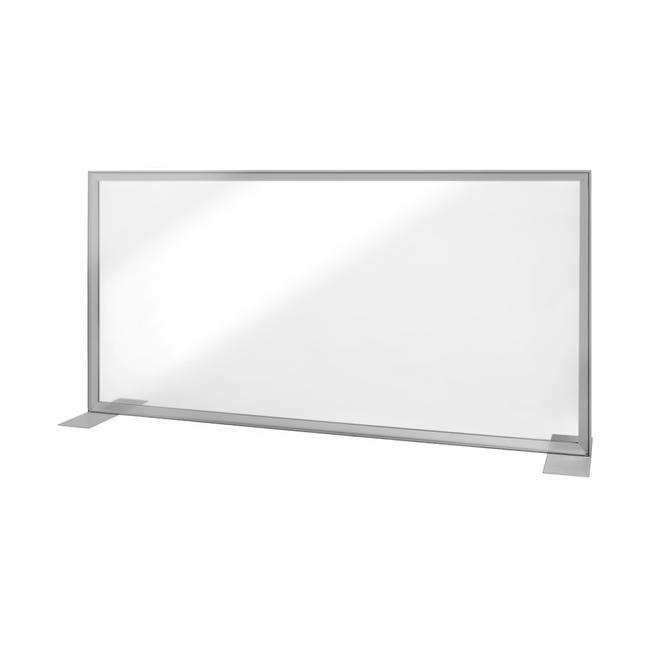 """Разделен ѕид """"Desk"""" со транспарентен банер"""