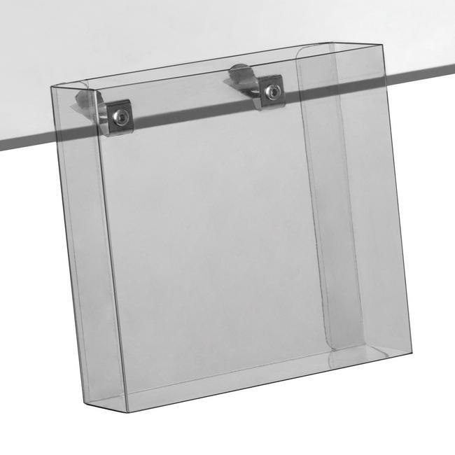 Држач за флаери за на стаклени или дрвени полици