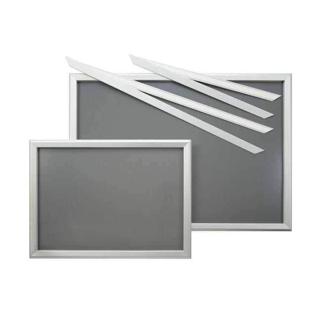 "Рамка за излог ""Феко"" co сребрени анодизирани митрирани агли"