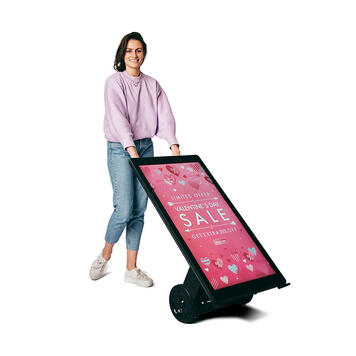 "Digitaler Kundenstopper ""Outdoor"""